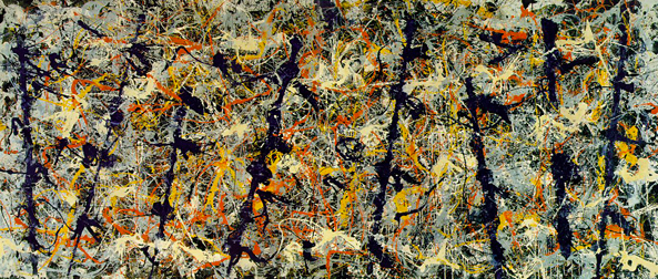 Jackson Pollock's Blue Poles, screenshot via Wikipedia